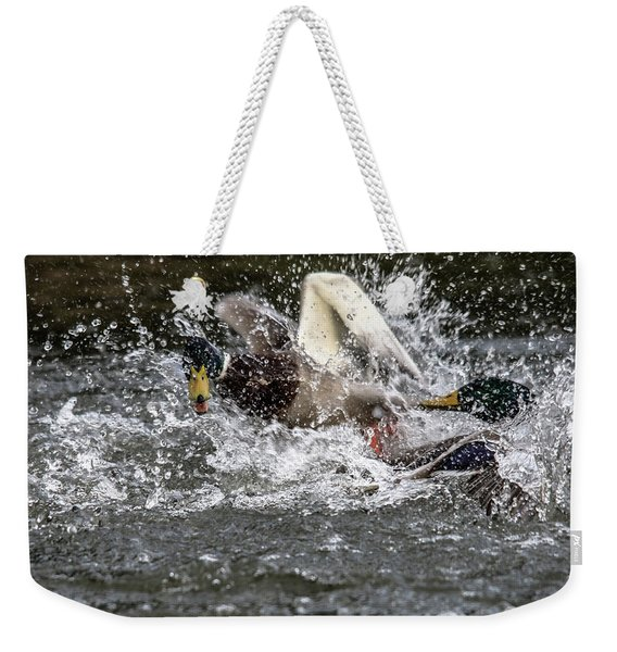 Splashing Mallards  Weekender Tote Bag