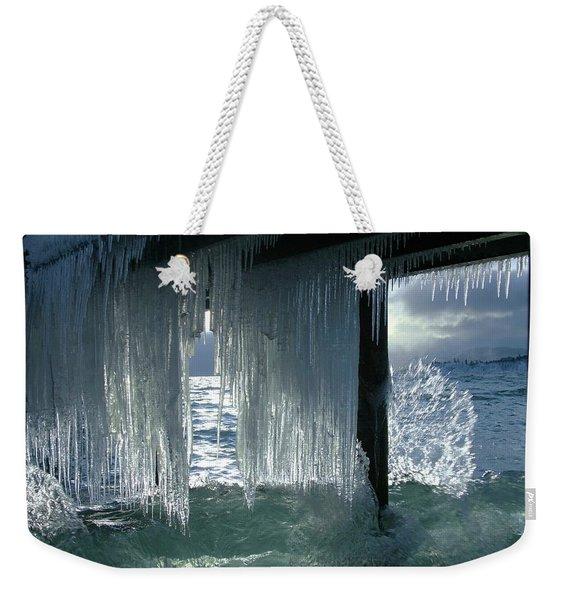 Splash...storm Sunset Weekender Tote Bag