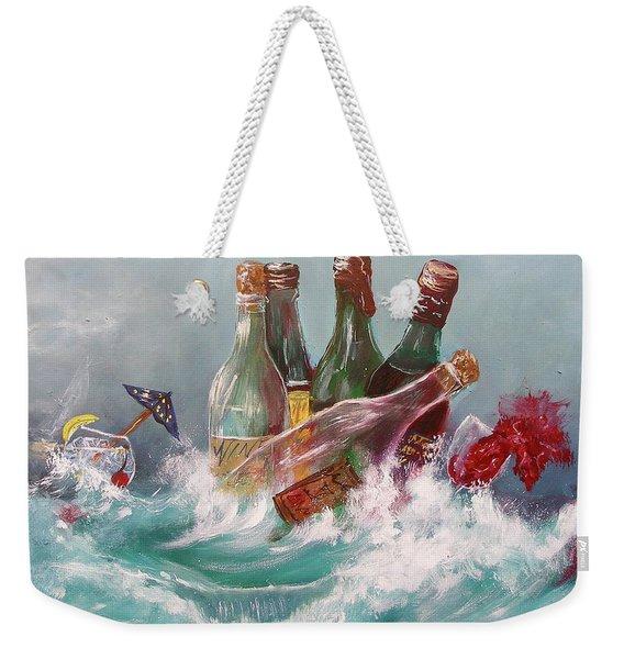Splattered Wine Weekender Tote Bag