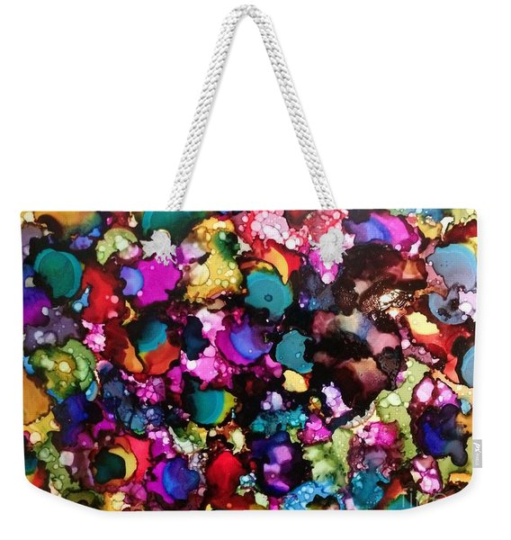 Weekender Tote Bag featuring the painting Splendor by Denise Tomasura