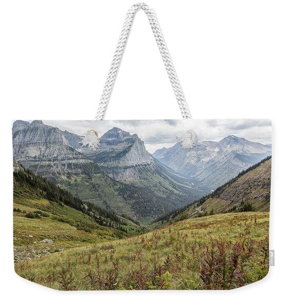Splendor From Highline Trail - Glacier Weekender Tote Bag