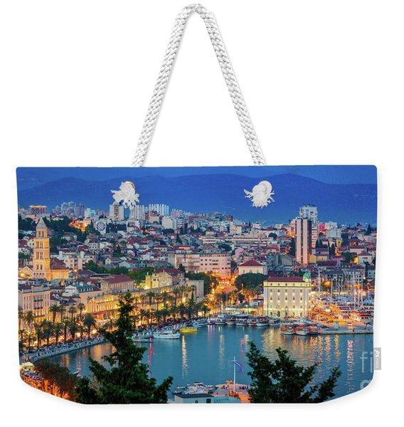 Split Evening Panorama Weekender Tote Bag