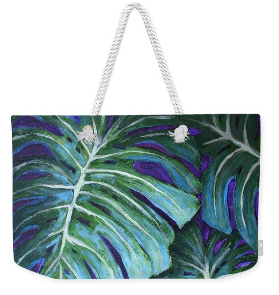 Split Leaf Philodendron Weekender Tote Bag