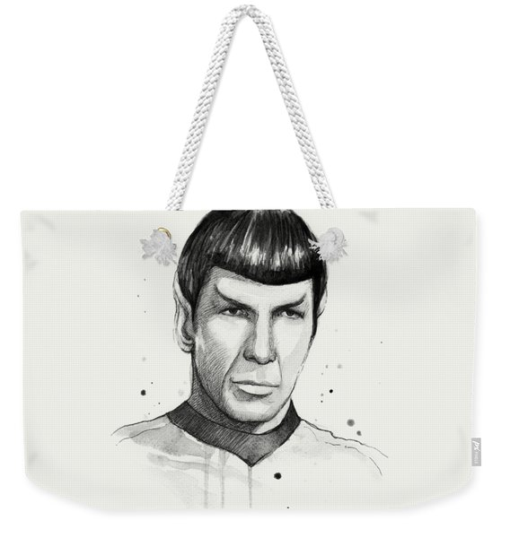 Spock Watercolor Portrait Weekender Tote Bag