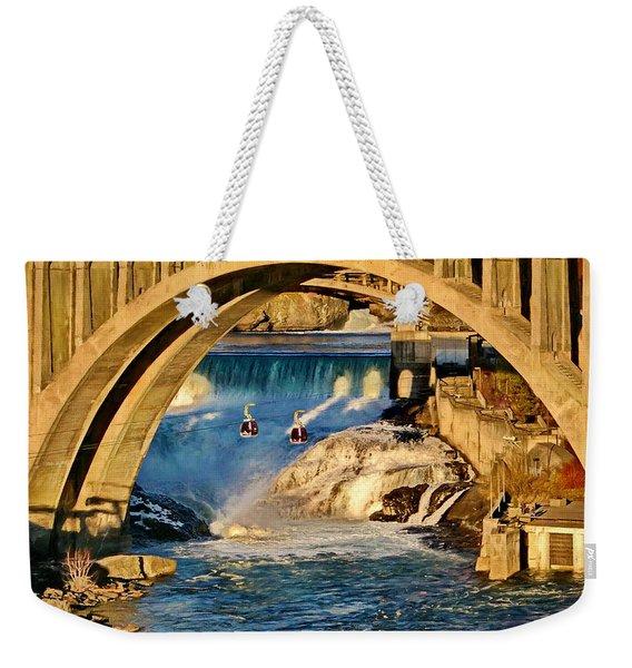 Spokane Monroe Street Bridge Weekender Tote Bag