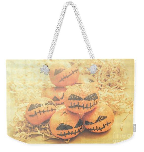 Spooky Halloween Oranges Weekender Tote Bag
