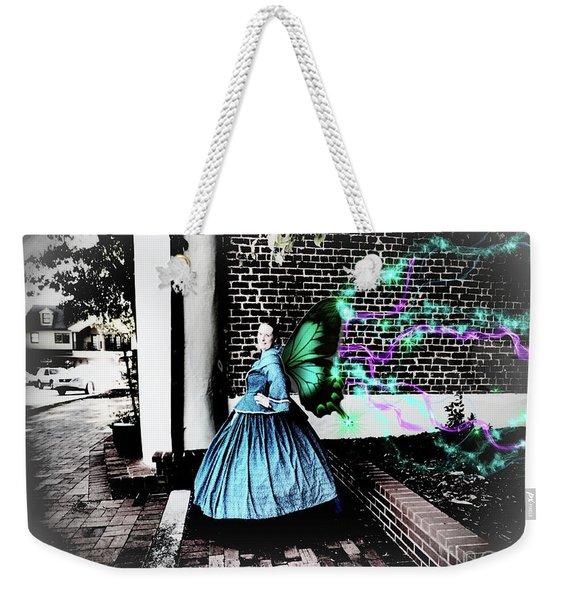 Spooky Historic Butterfly Dahlonega  Weekender Tote Bag