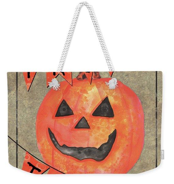 Spooky Pumpkin 1 Weekender Tote Bag