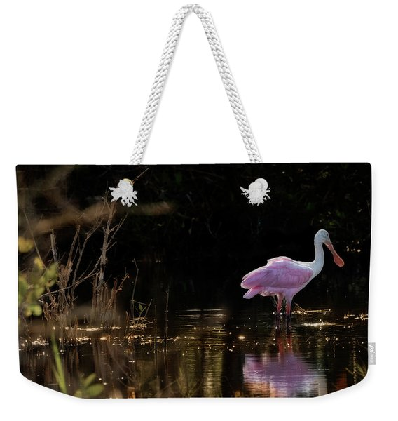 Spoonbill Fishing For Supper Weekender Tote Bag