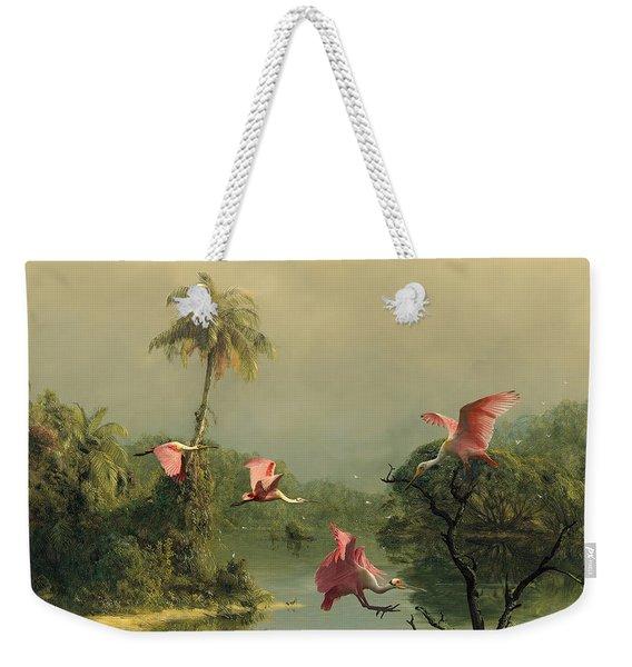 Spoonbills In The Mist Weekender Tote Bag