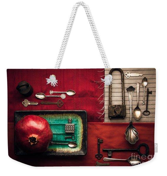 Spoons, Locks And Keys Weekender Tote Bag