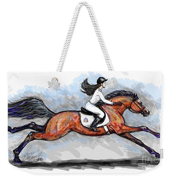 Sport Horse Rider Weekender Tote Bag