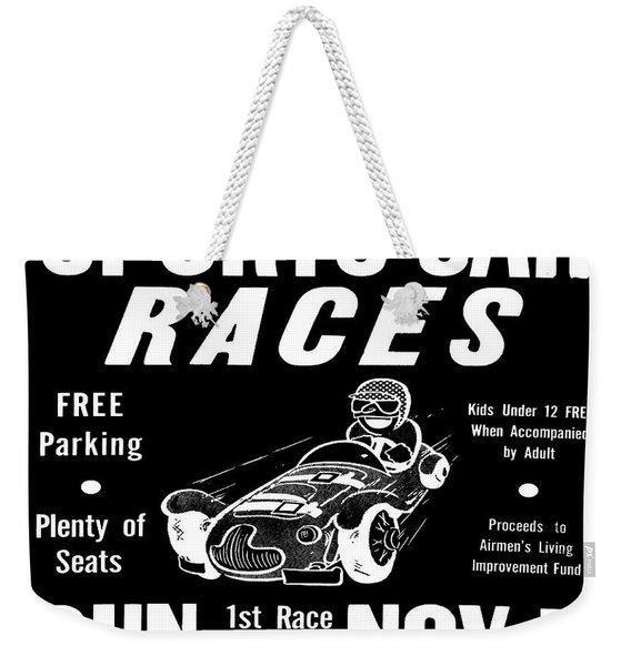 Sports Car Races In Black Weekender Tote Bag
