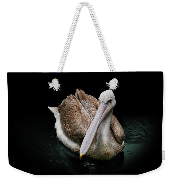 Spotlight On A Pink-backed Pelican Weekender Tote Bag
