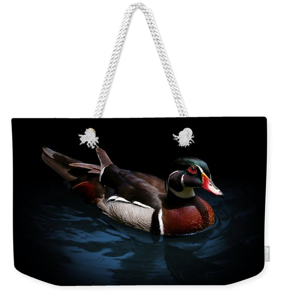 Spotlight On A Wood Duck Weekender Tote Bag