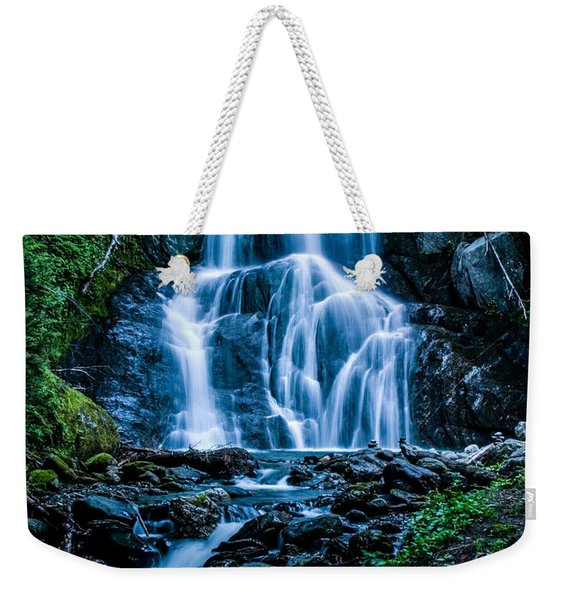 Weekender Tote Bag featuring the photograph Spring At Moss Glen Falls by Jeff Folger