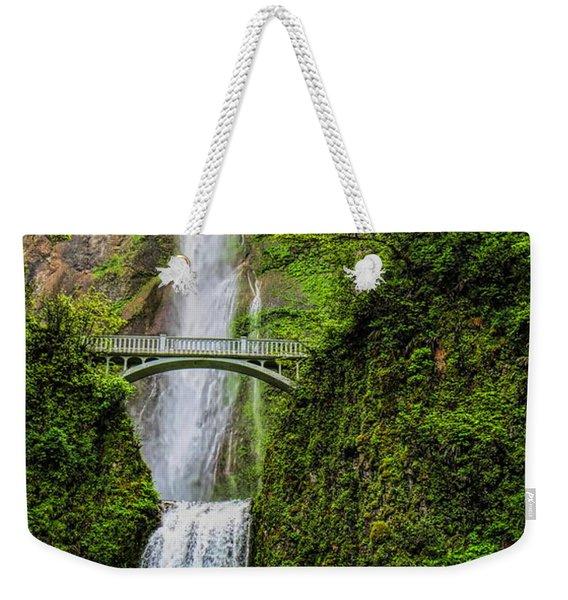 Spring At Multnomah Falls Weekender Tote Bag