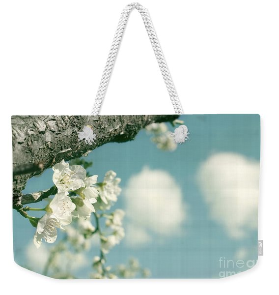 Spring Blossoms And Puffy Clouds Weekender Tote Bag