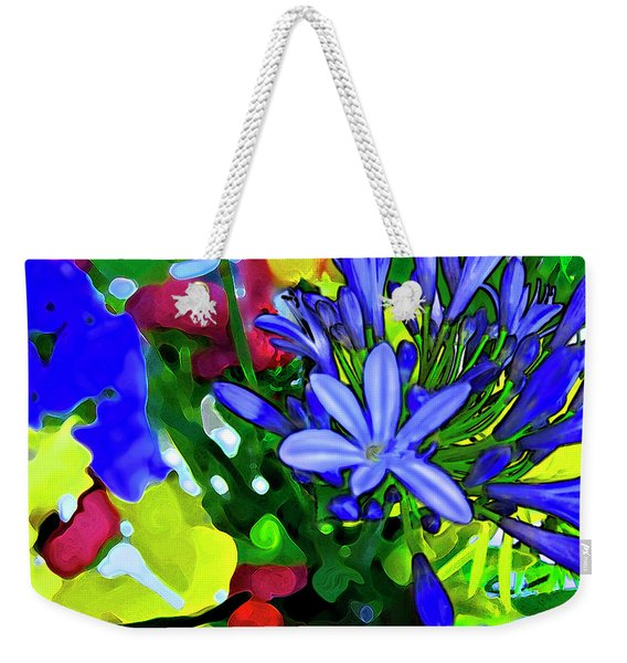 Weekender Tote Bag featuring the digital art Spring Bouquet by Gina Harrison