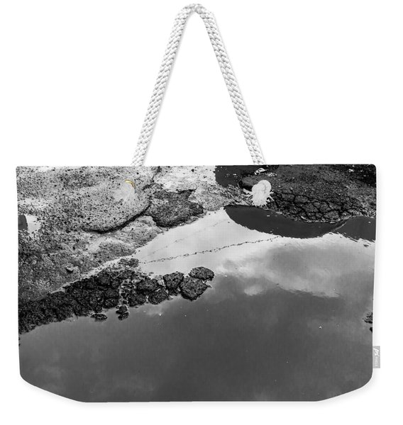 Spring Clouds Puddle Reflection Weekender Tote Bag
