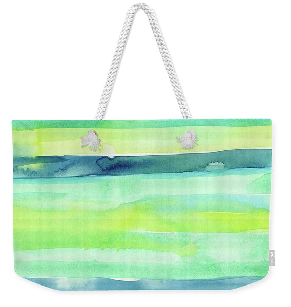 Spring Colors Pattern Horizontal Stripes Weekender Tote Bag