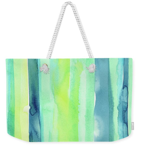 Spring Colors Stripes Pattern Vertical Weekender Tote Bag