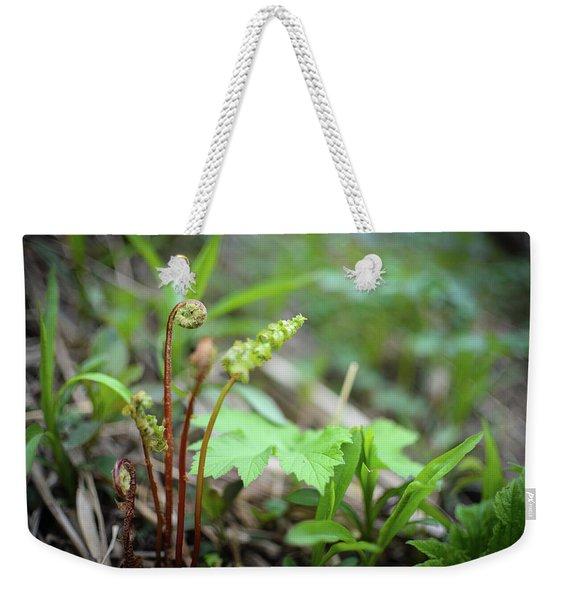 Spring Ferns Weekender Tote Bag
