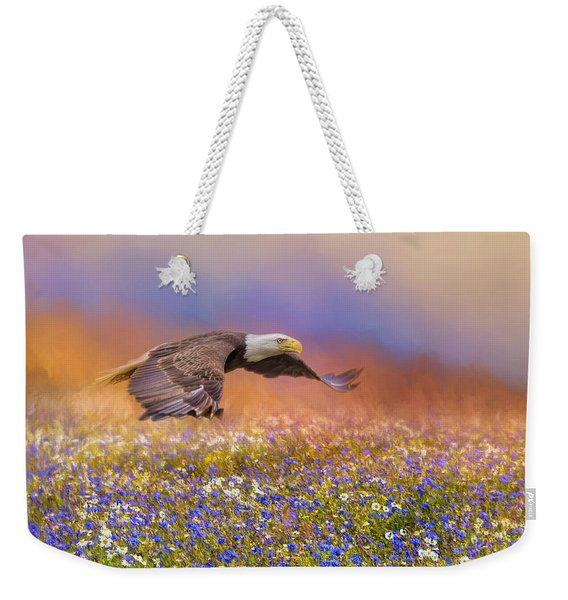 Spring Flight Bald Eagle Art Weekender Tote Bag