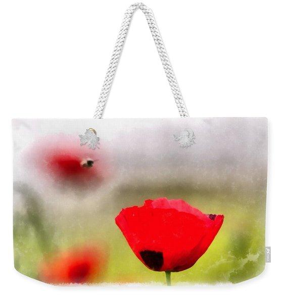 Spring Flowering Poppies Weekender Tote Bag