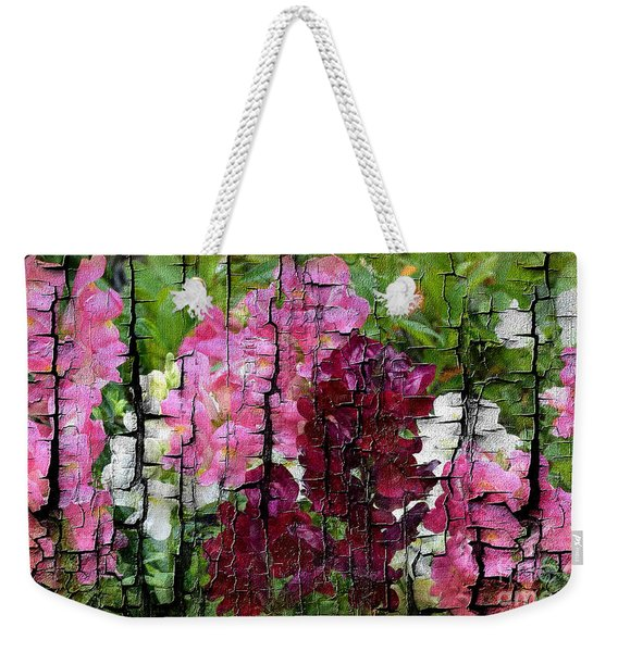 Weekender Tote Bag featuring the painting Spring Garden H131716 by Mas Art Studio