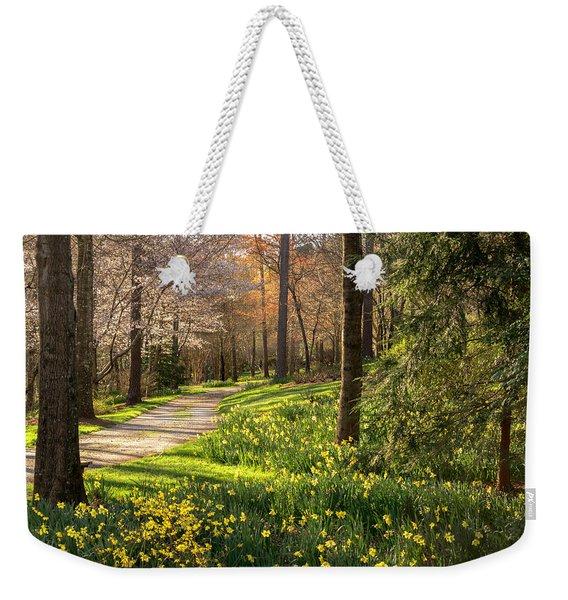Spring Garden Path Weekender Tote Bag