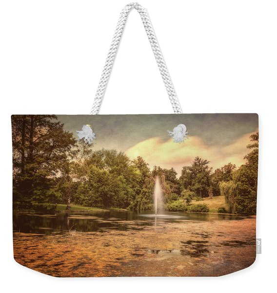 Spring Grove Water Feature Weekender Tote Bag