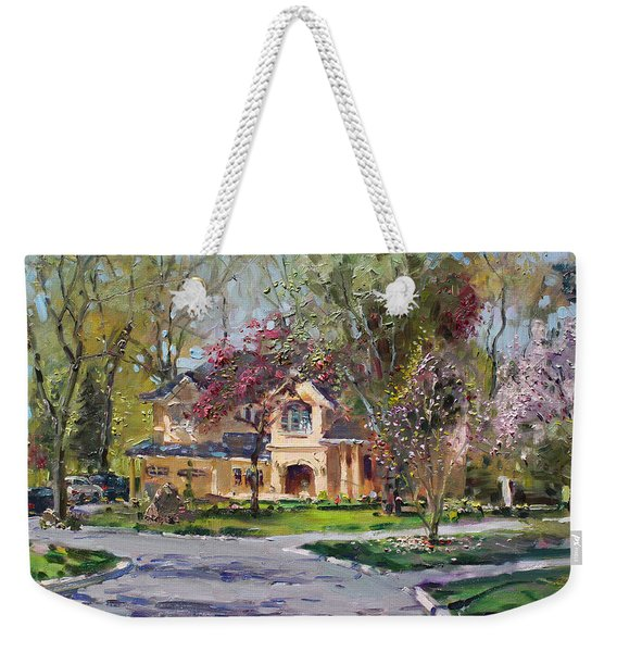 Spring In Wateska Bulvd Weekender Tote Bag