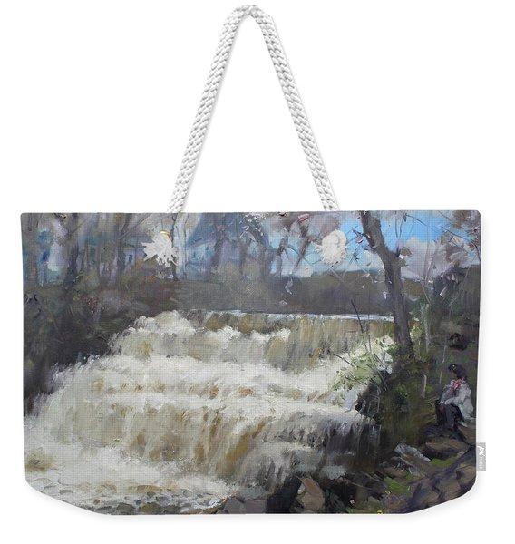 Spring In Williamsville Falls Weekender Tote Bag
