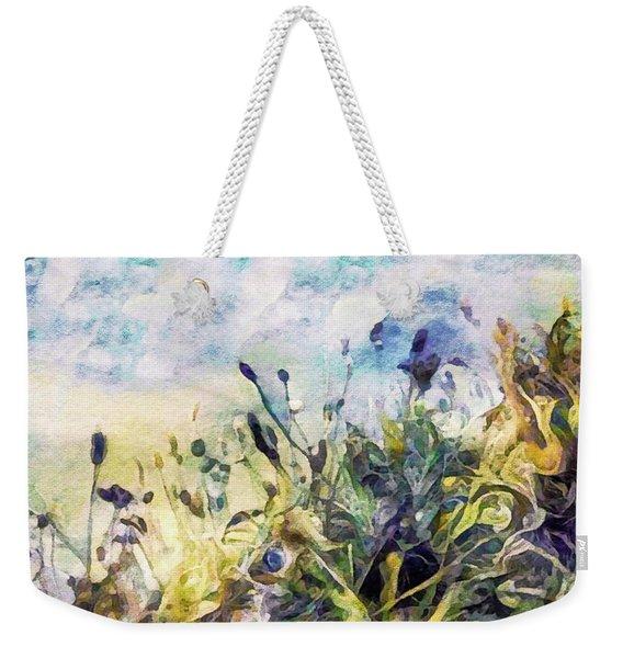 Spring Meadow Rain Weekender Tote Bag