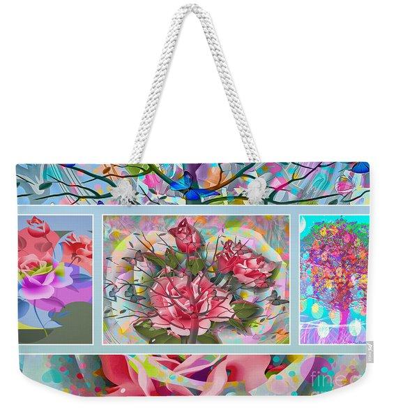 Weekender Tote Bag featuring the digital art Spring Medley by Eleni Mac Synodinos