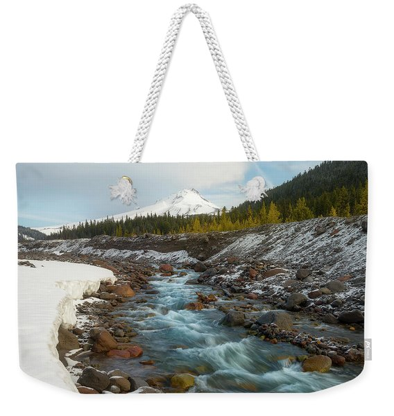Spring Melt At The White River Weekender Tote Bag