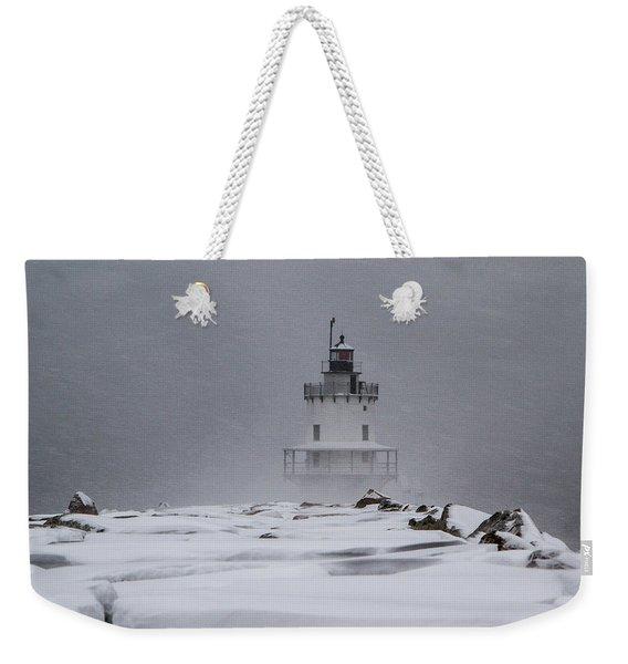 Spring Point Ledge Lighthouse Blizzard Weekender Tote Bag