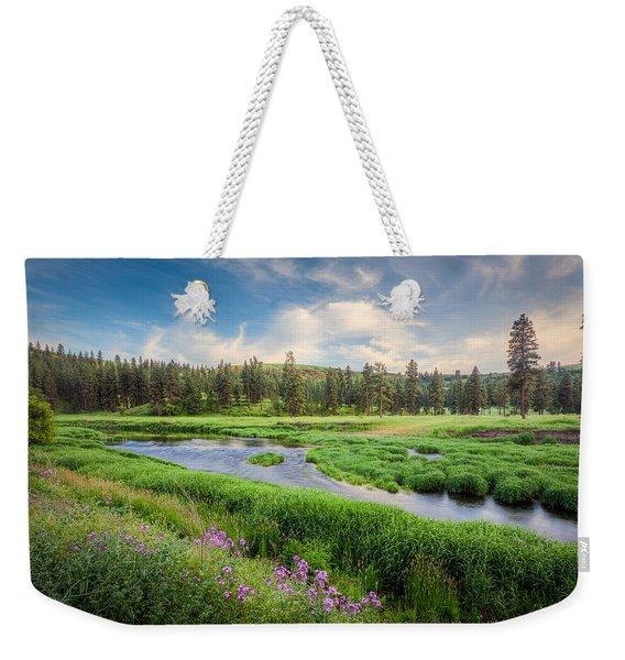 Spring River Valley Weekender Tote Bag