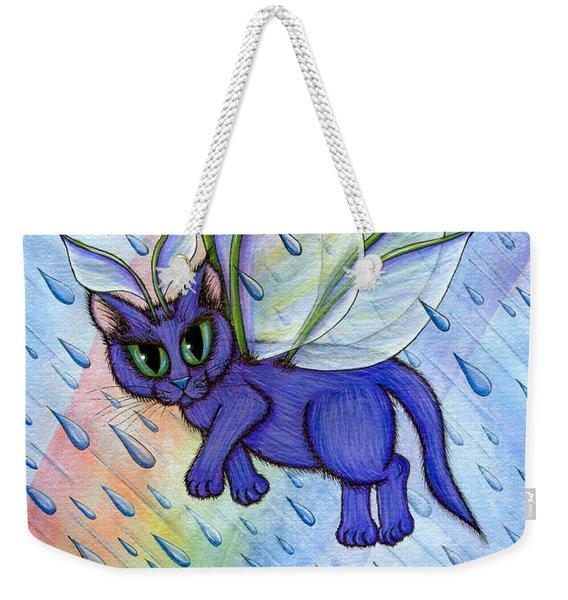 Spring Showers Fairy Cat Weekender Tote Bag