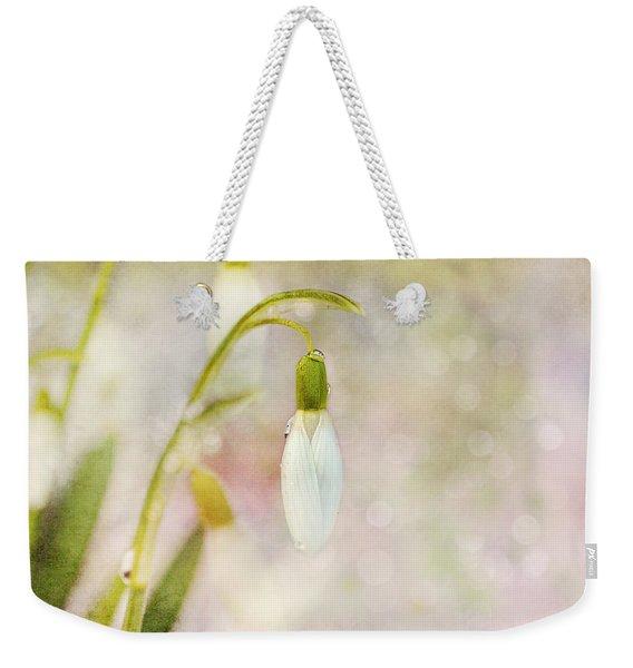 Spring Snowdrops And Bokeh Weekender Tote Bag