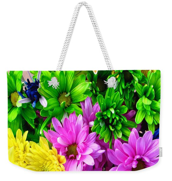 Weekender Tote Bag featuring the painting Spring Still Life Floral 721 by Mas Art Studio