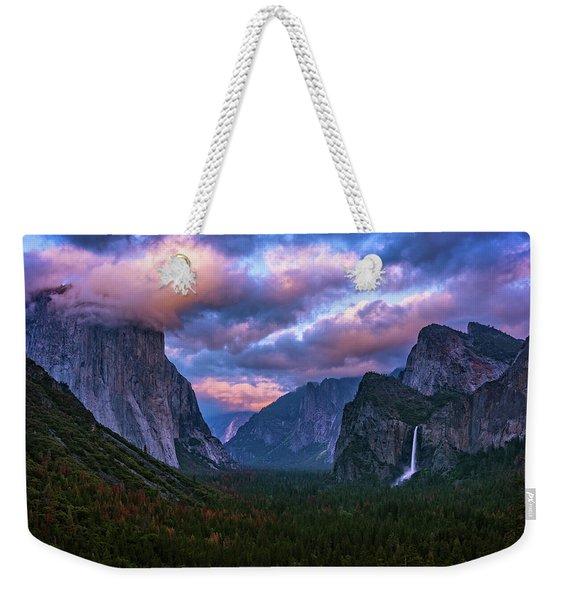Spring Sunset At Yosemite's Tunnel View Weekender Tote Bag