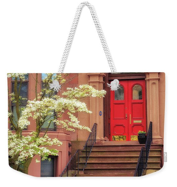 Bushnell Park Brownstone Weekender Tote Bag