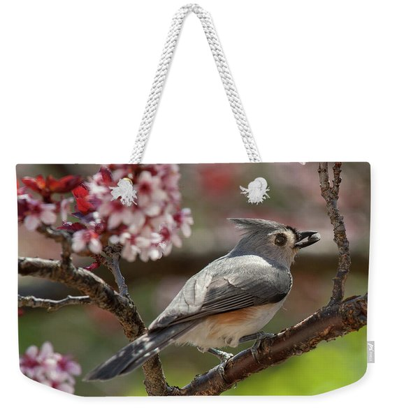 Spring Tufted Titmouse 2018 2 Weekender Tote Bag