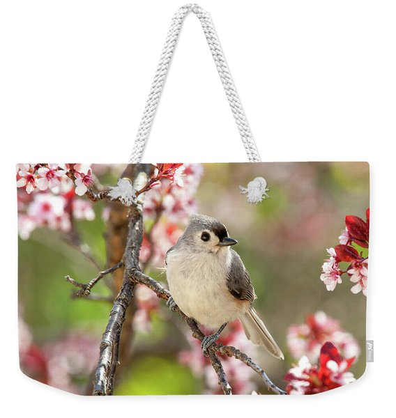 Spring Tufted Titmouse 2018 Weekender Tote Bag
