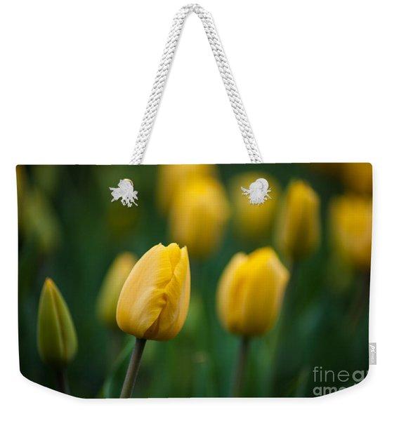 Spring Tulips Yellow Weekender Tote Bag