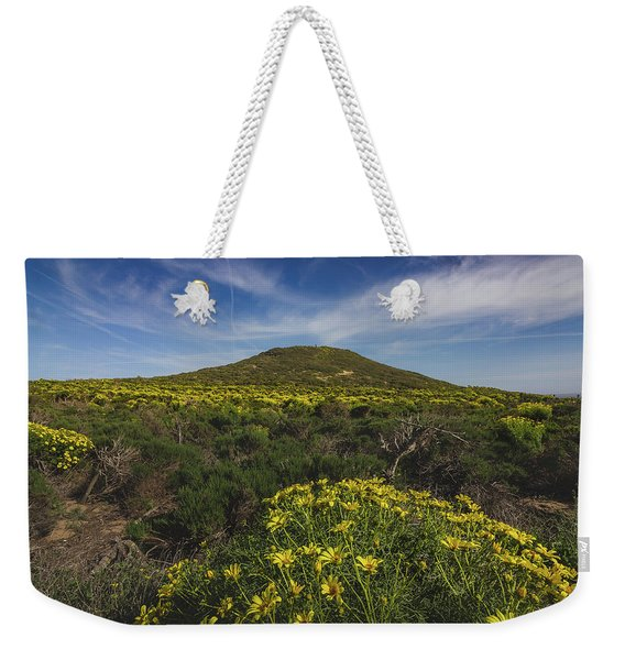 Weekender Tote Bag featuring the photograph Spring Wildflowers Blooming In Malibu by Andy Konieczny