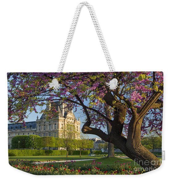 Weekender Tote Bag featuring the photograph Springtime In Paris by Brian Jannsen