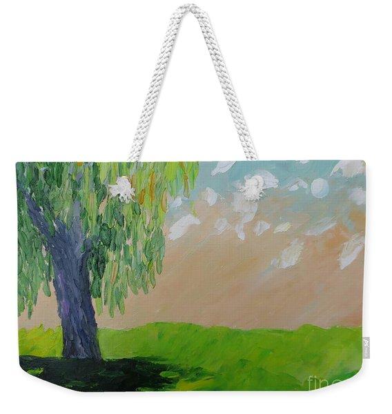 Springtime Willow Weekender Tote Bag